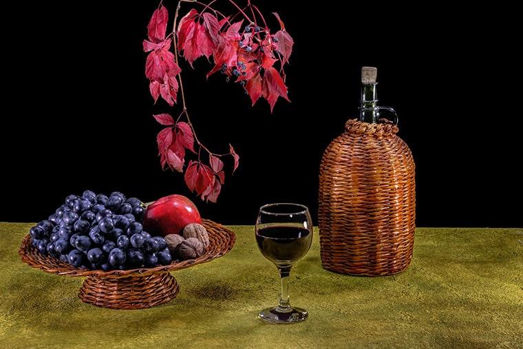 Dégustation de vin rouge